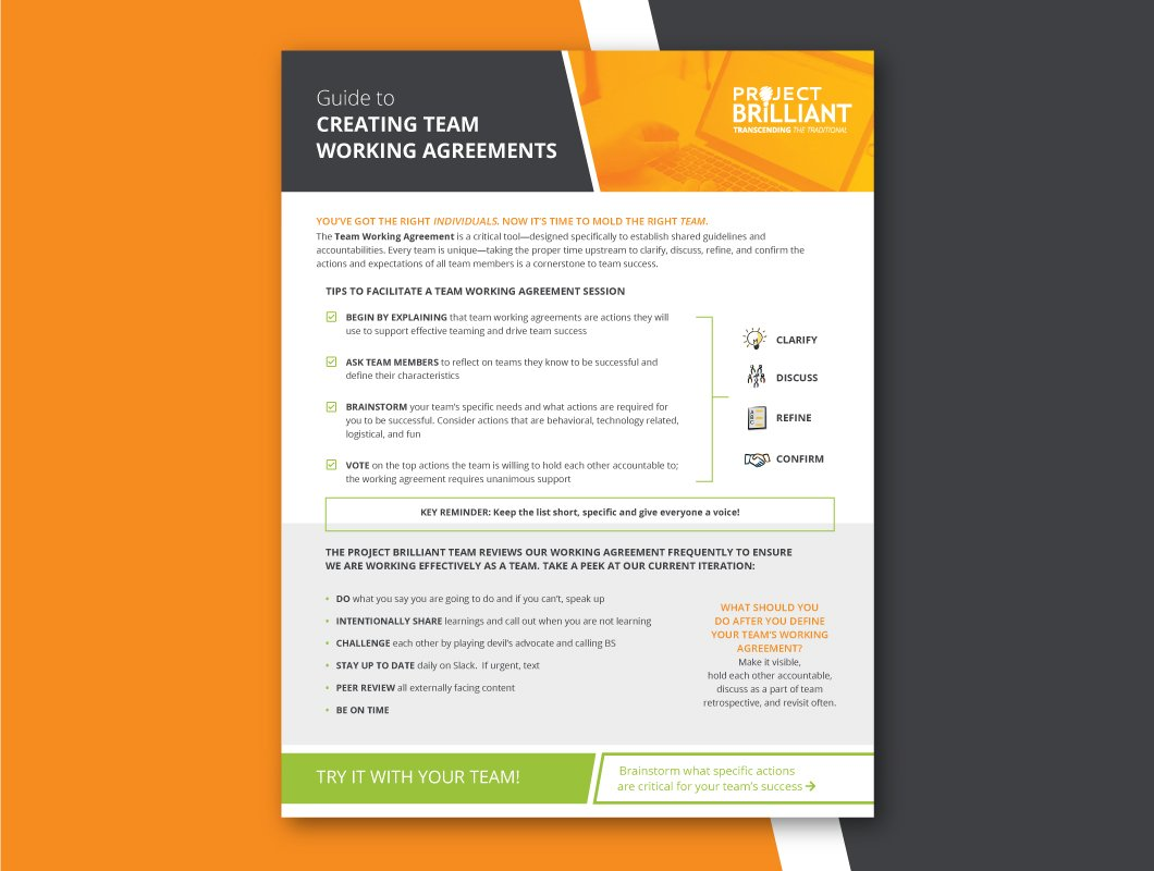 Guide to Creating Team Working Agreements